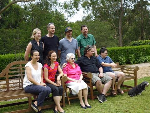 Pat with grandchildren (one overseas)
