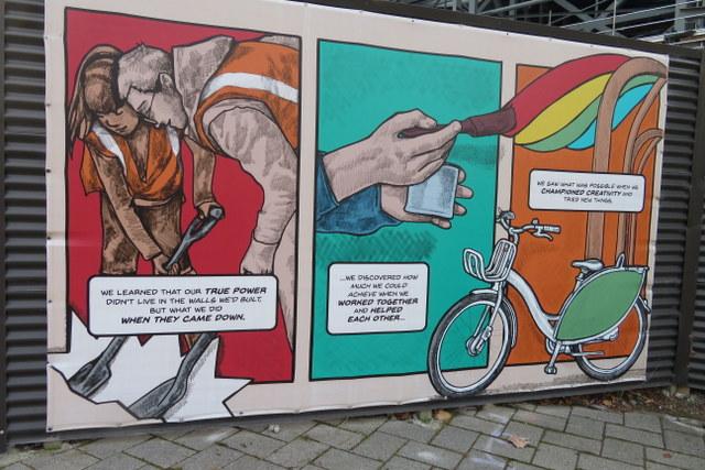 Giant comic mural 2
