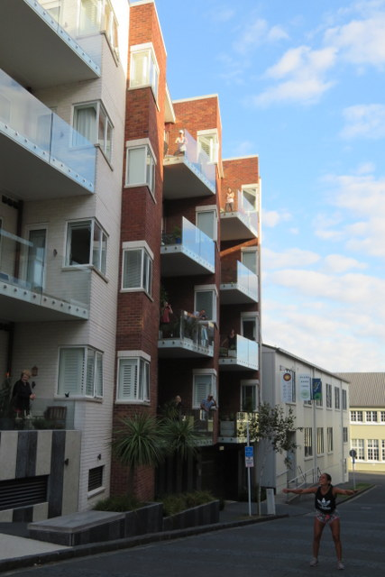 exercise on balconies in Isaac Lane