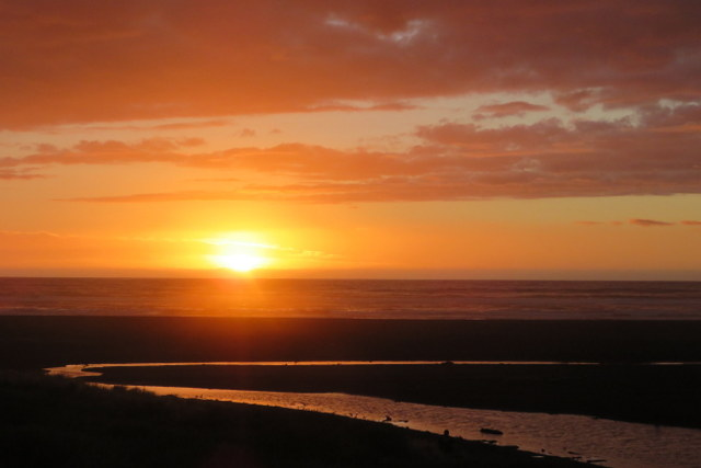 sunset at North Piha