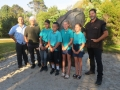 local students with (on left) Selwyn Herewini, George Flavell and on right, Willie Apiata