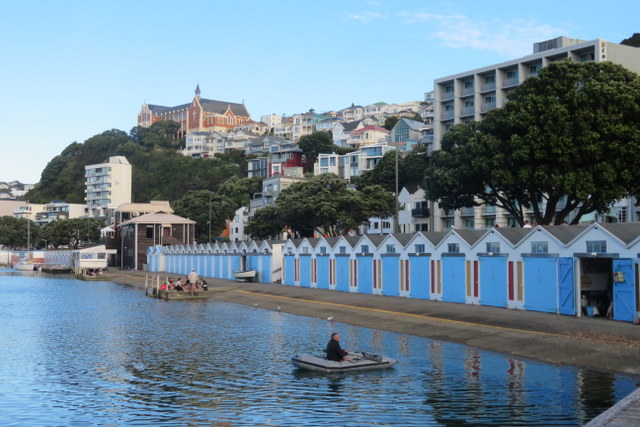 Boat sheds on Oriental Parade