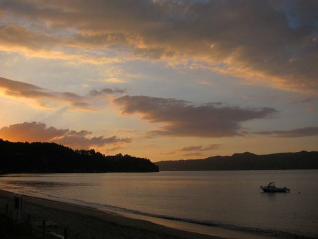 Orua Bay sunset